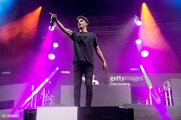 Andrew Taggart of The Chainsmokers perform at Zilker Park on October 1, 2016 in Austin, Texas.