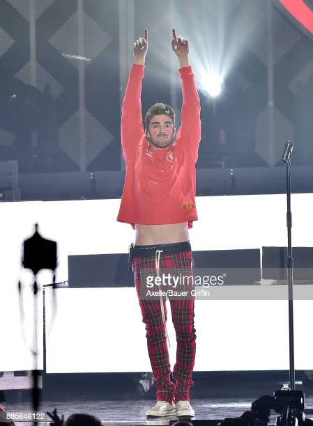Andrew Taggart of The Chainsmokers performs at 1027 KIIS FM's Jingle Ball 2017 at The Forum on December 1 2017 in Inglewood California