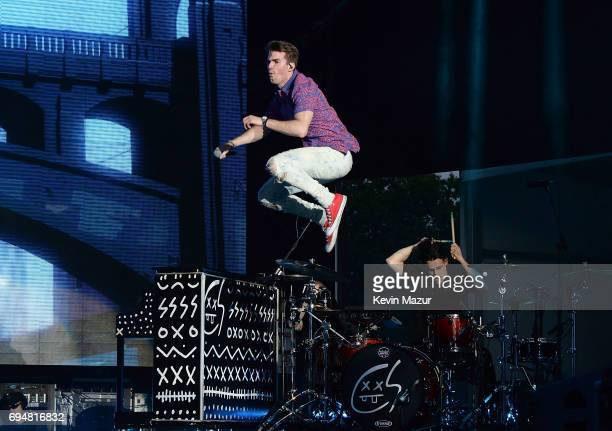 Andrew Taggart of The Chainsmokers performs at Forest Hills Stadium on June 9 2017 in New York City