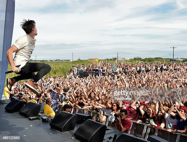 Andrew Taggart of The Chainsmokers performs during Billboard Hot 100 Festival Day 2 at Nikon at Jones Beach Theater on August 23 2015 in Wantagh New...