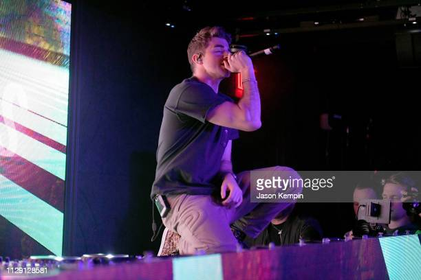 Andrew Taggart of The Chainsmokers performs during Dream Nashville's Grand Opening at Dream Hotel on March 7 2019 in Nashville Tennessee
