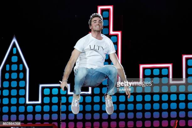 Andrew Taggart of The Chainsmokers performs during the 2017 Global Citizen Festival at The Great Lawn of Central Park on September 23 2017 in New...