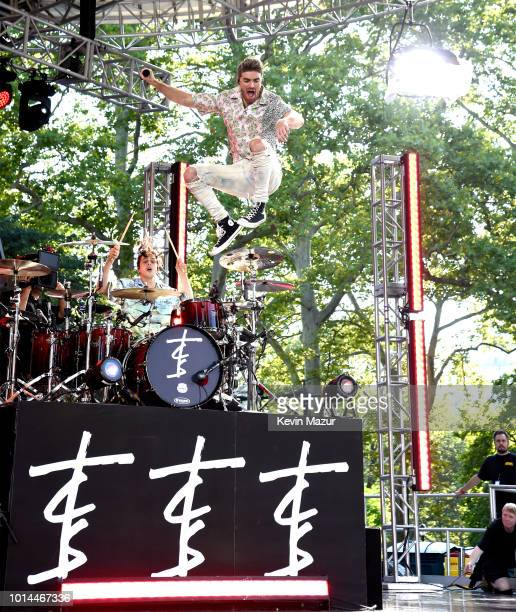 Andrew Taggart of the Chainsmokers performs live on ABC's 'Good Morning America' at SummerStage at Rumsey Playfield Central Park on August 10 2018 in...