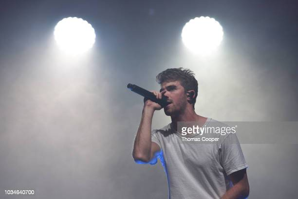 Andrew Taggart of The Chainsmokers performs on day 3 of the Gandoozy Music Festival at Overland Park Golf Course on September 14 2018 in Denver...
