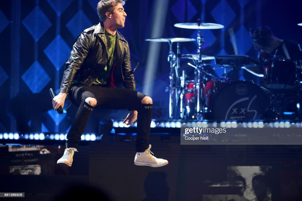 Andrew Taggart of The Chainsmokers performs onstage at 106.1 KISS FM's Jingle Ball 2017 Presented by Capital One at American Airlines Center on November 28, 2017 in Dallas, Texas.
