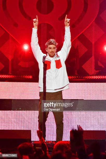 Andrew Taggart of The Chainsmokers performs onstage at the Z100's Jingle Ball 2017 on December 8 2017 in New York City