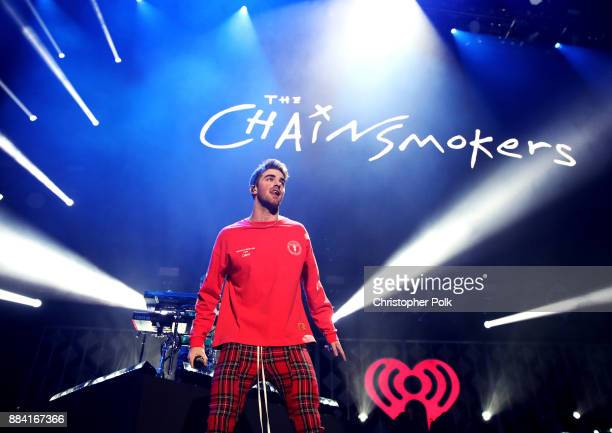 Andrew Taggart of The Chainsmokers performs onstage during 1027 KIIS FM's Jingle Ball 2017 presented by Capital One at The Forum on December 1 2017...