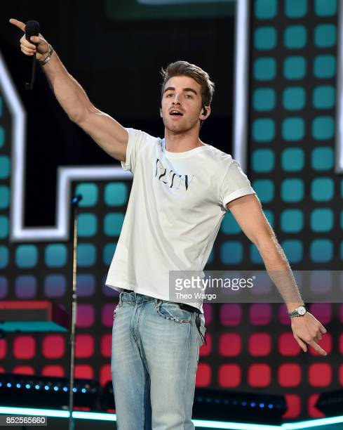 Andrew Taggart of the Chainsmokers performs onstage during the 2017 Global Citizen Festival For Freedom For Justice For All in Central Park on...