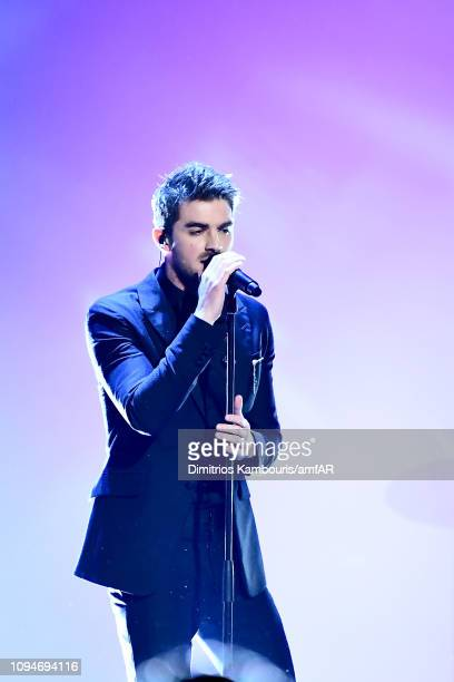 Andrew Taggart of The Chainsmokers performs onstage during the amfAR New York Gala 2019 at Cipriani Wall Street on February 6 2019 in New York City
