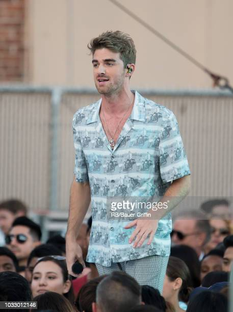 Andrew Taggart of the music group 'The Chainsmokers' is seen at 'Jimmy Kimmel Live' on September 13 2018 in Los Angeles California