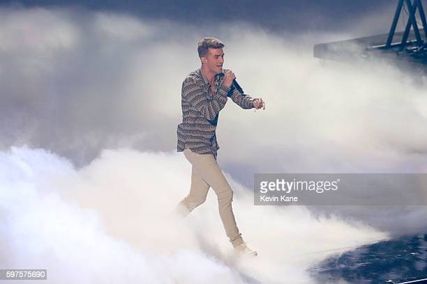 Andrew Taggart performs onstage during the 2016 MTV Video Music Awards at Madison Square Garden on August 28 2016 in New York City