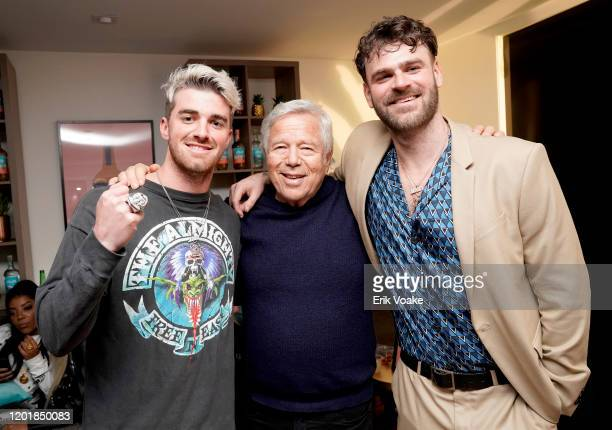 Andrew Taggart Robert Kraft and Alex Pall as JAJA Tequila Presents The Party For No Reason on January 24 2020 in Los Angeles California