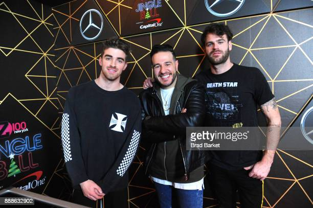 Andrew Taggart Z100's Mo' Bounce and Alex Pall attend the Z100's Jingle Ball 2017 backstage on December 8 2017 in New York City