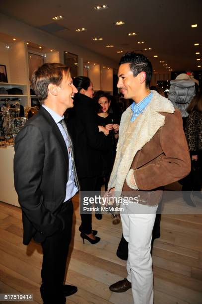Andrew Taylor and Christian Cota attend Ann Taylor Flatiron Store Opening at Ann Taylor NYC on December 2 2010 in New York City