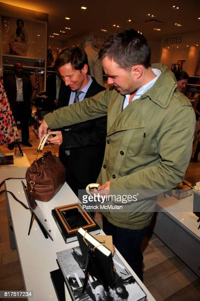 Andrew Taylor and Michael Carl attend Ann Taylor Flatiron Store Opening at Ann Taylor NYC on December 2 2010 in New York City