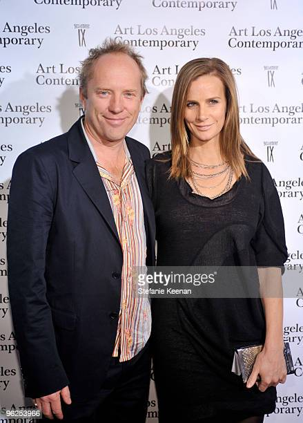 Andrew Taylor and Rachel Griffiths appear at ALAC Opening Night at Pacific Design Center on January 28 2010 in West Hollywood California