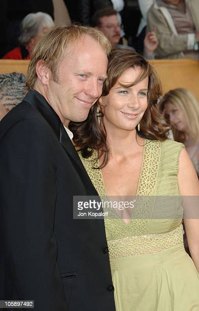 Andrew Taylor and Rachel Griffiths during 12th Annual Screen Actors Guild Awards Arrivals at Shrine Auditorium in Los Angeles CA United States