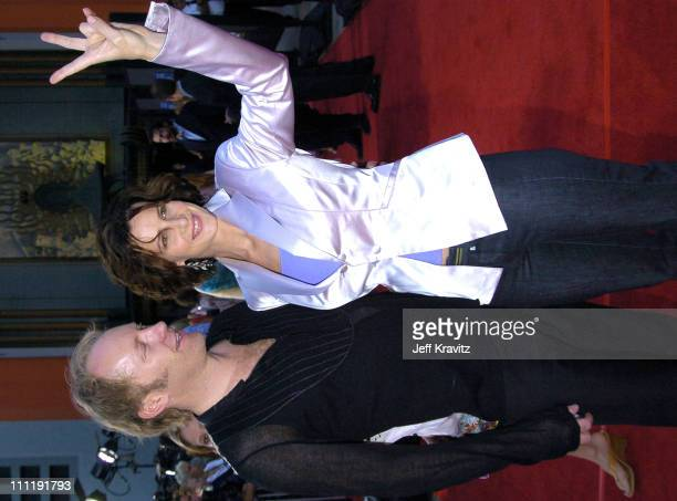 Andrew Taylor and wife Rachel Griffiths during HBO's Series 'Six Feet Under' Season Four Los Angeles Premiere Arrivals at Mann's Chinese Theater in...