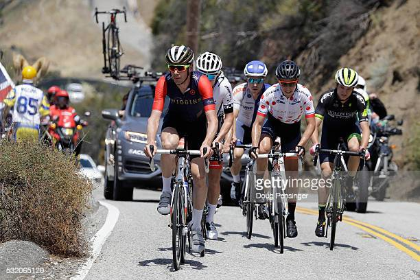 Andrew Tennant of Great Britain riding for Team Wiggins leads the breakway on the climb of Westlake Blvd during stage three of the 2016 Amgen Tour of...