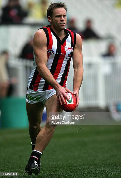 Andrew Thompson of the Saints in action during the round 15 AFL match between the Essendon Bombers and the St Kilda Saints at the Melbourne Cricket...