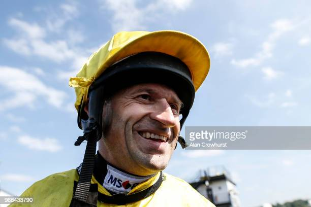 Andrew Thornton after his last ever ride as a jockey as he retires after the meeting having ridden over 1000 winners during his career at Uttoxeter...