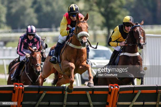Andrew Thornton riding Edward Elgar in action on the day the jockey retires from race riding at Uttoxeter Racecourse on June 06 2018 in Uttoxeter...