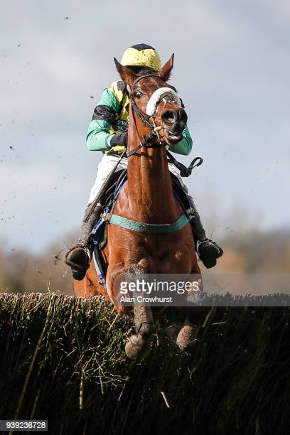 Andrew Thornton riding Somchine clear the last to win The Smarkets Handicap Steeple Chase at Wincanton Racecourse on March 28 2018 in Wincanton...