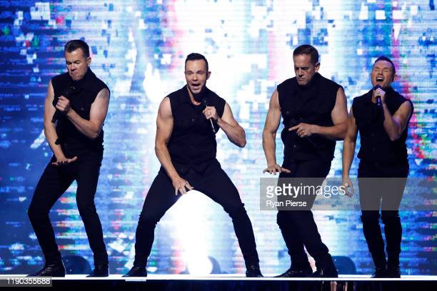 Andrew Tierney Toby Allen Michael Tierney and Phil Burton of Human Nature perform during the 33rd Annual ARIA Awards 2019 at The Star on November 27...