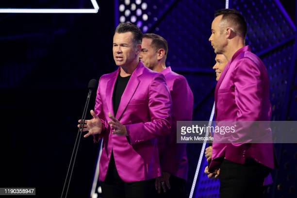 Andrew Tierney Toby Allen Michael Tierney and Phil Burton of Human Nature are inducted into the ARIA Hall of Fame during the 33rd Annual ARIA Awards...
