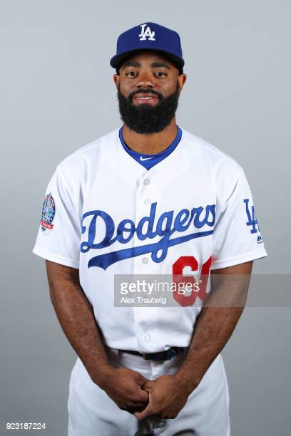 Andrew Toles of the Los Angeles Dodgers poses during Photo Day on Thursday February 22 2018 at Camelback Ranch in Glendale Arizona