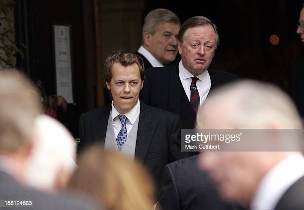 Andrew Tom Parker Bowles Attend A Memorial Service For Major Bruce Shand At St Paul'S Church In London'S Knightsbridge