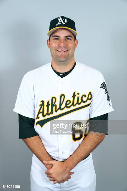 Andrew Triggs of the Oakland Athletics poses during Photo Day on Wednesday February 22 2012 at Hohokam Stadium in Phoenix Arizona