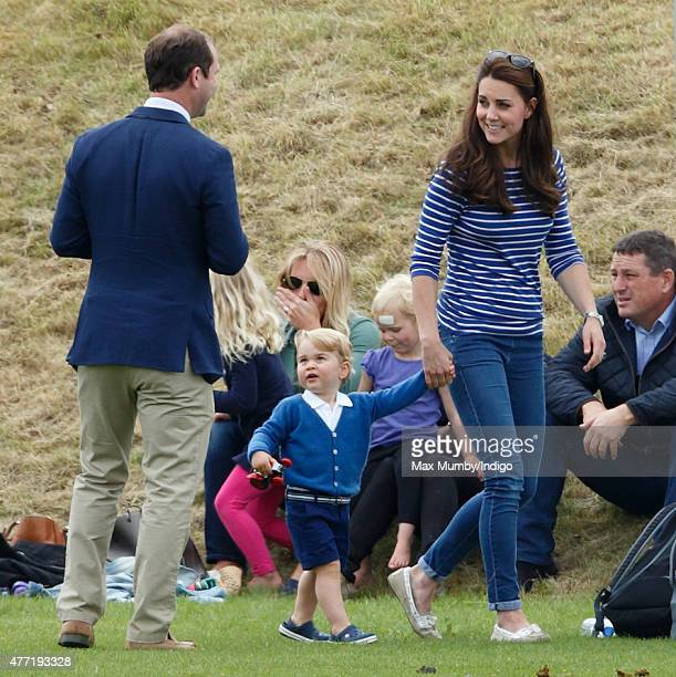 Andrew Tucker Catherine Duchess of Cambridge and Prince George of Cambridge attend the Gigaset Charity Polo Match at the Beaufort Polo Club on June...