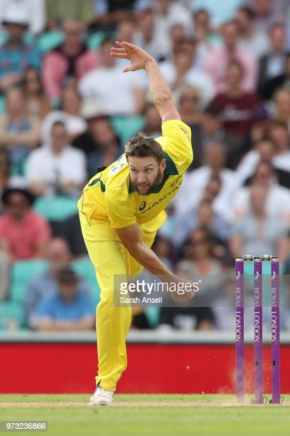 Andrew Tye of Australia bowls during the 1st Royal London ODI between England and Australia at The Kia Oval on June 13 2018 in London England
