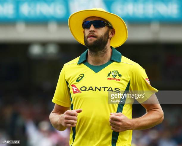 Andrew Tye of Australia during One Day International Series match between England and Australia at Kia Oval Ground London England on 13 June 2018