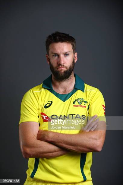 Andrew Tye of Australia poses for a portrait at Lord's Cricket Ground on June 8 2018 in London England