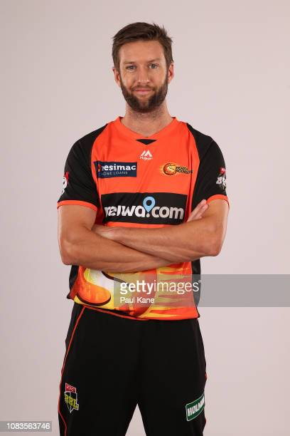Andrew Tye poses during the Perth Scorchers BBL headshots session at the WACA on December 03 2018 in Perth Australia