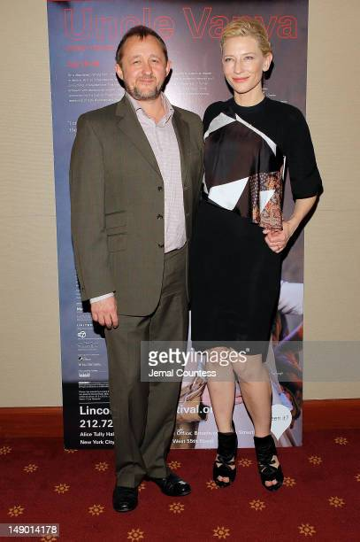 Andrew Upton and actress Cate Blanchett attend the 'Uncle Vanya' cast photo call at New York City Center on July 21 2012 in New York City