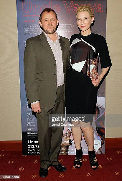 Andrew Upton and actress Cate Blanchett attend the Uncle Vanya Cast Photo Call at New York City Center on July 21 2012 in New York City