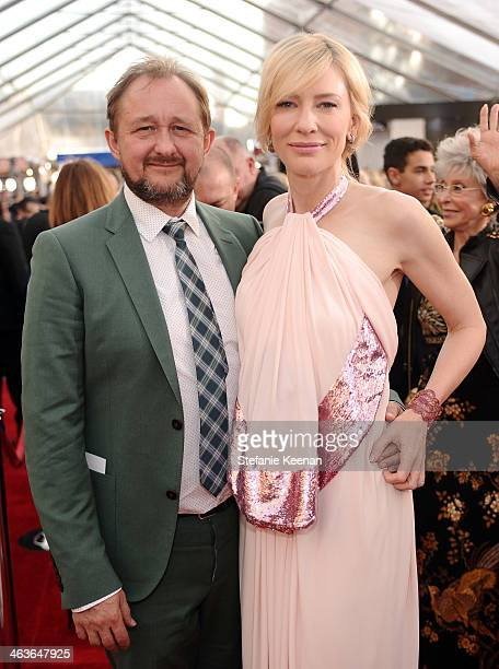 Andrew Upton and actress Cate Blanchett attends 20th Annual Screen Actors Guild Awards at The Shrine Auditorium on January 18 2014 in Los Angeles...