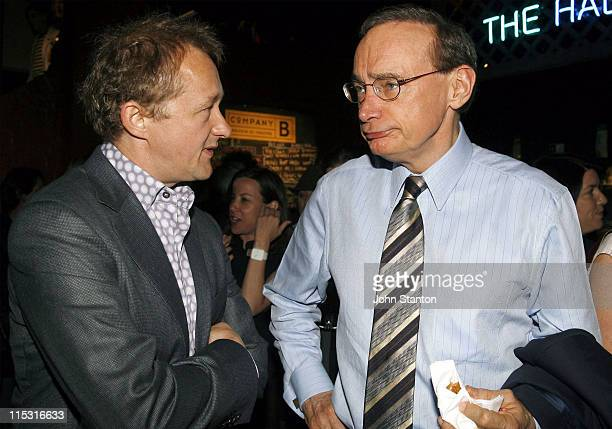 Andrew Upton and Bob Carr during Belvoir St Theatre Opening Night October 4 2006 at Belvoir St Theatre in Sydney NSW Australia
