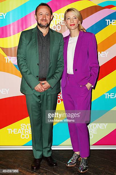 Andrew Upton and Cate Blanchett arrive at the Sydney Theatre Company 2015 Launch on September 4 2014 in Sydney Australia