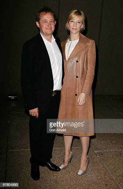 Andrew Upton and Cate Blanchett attend the aftershow party following a gala performance of King Lear to celebrate Bell Shakespeare's 20th anniversary...