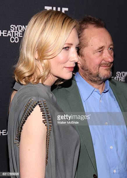 Andrew Upton and Cate Blanchett attend the Broadway Opening Night After Party for 'The Present' at the Bryant Park Grill on January 8 2017 in New...