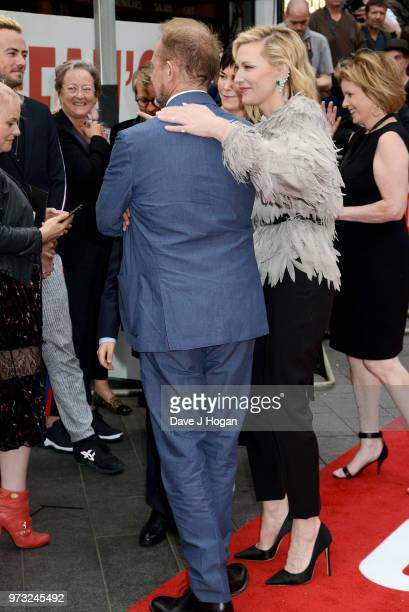 Andrew Upton and Cate Blanchett attend the 'Ocean's 8' UK Premiere held at Cineworld Leicester Square on June 13 2018 in London England