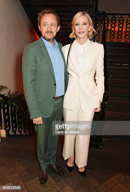 Andrew Upton and Cate Blanchett attend the Summer Gala for The Old Vic at The Brewery on June 27 2016 in London England