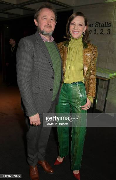 Andrew Upton and Cate Blanchett attend Up Next 2019 The National Theatre's Biennial Fundraising Gala at The National Theatre on March 5 2019 in...