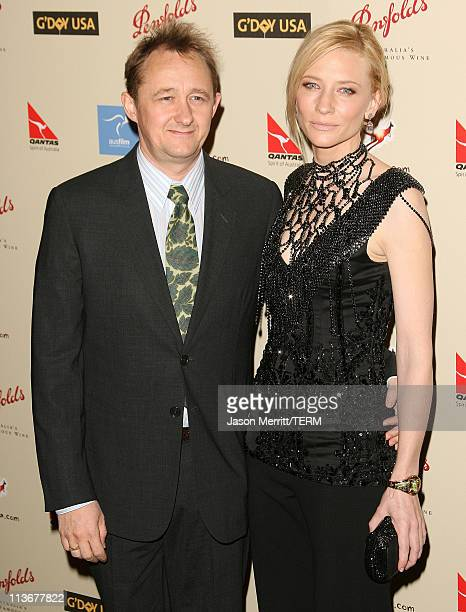 Andrew Upton and Cate Blanchett during 2007 Australia Week Gala Arrivals in Los Angeles California United States