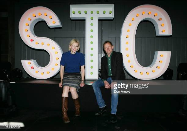 Andrew Upton and Cate Blanchett pose during a photo call for the Sydney Theatre Company 2012 season launch at Pier 2 on September 23 2011 in...