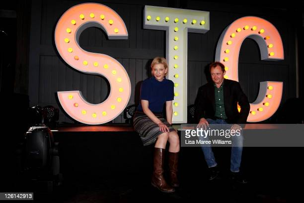 Andrew Upton and Cate Blanchett pose during a photo call for the Sydney Theatre Company 2012 season launch on September 23 2011 in Sydney Australia